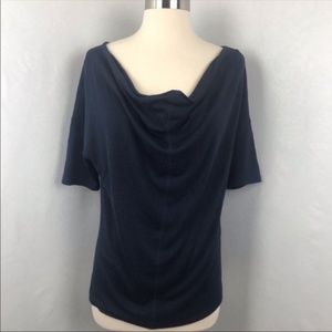 Banana Republic Factory Navy Ruched Blue Blouse